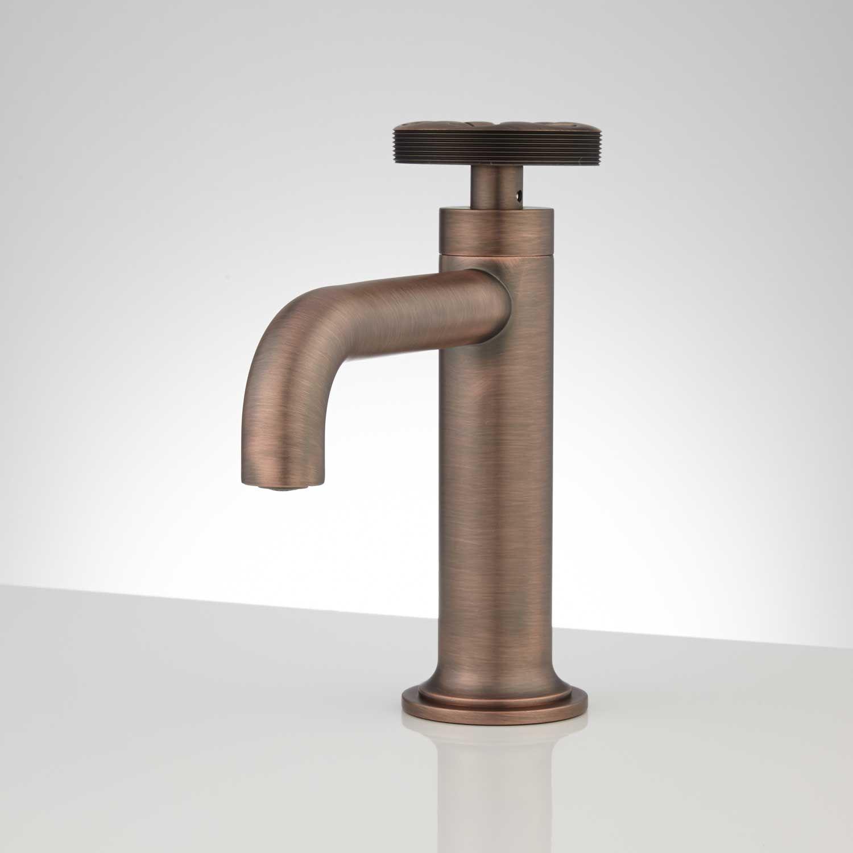Brass Bathroom Faucet Edison Single Hole Brass Bathroom Faucet With Pop Up Drain