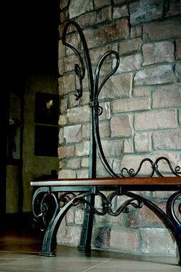 Custom Made Entry Bench Wrought Iron Table Iron Furniture