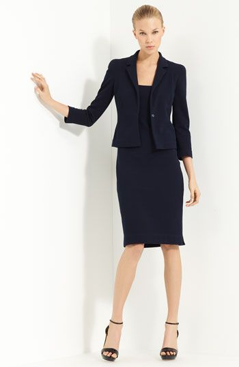 Lida Biday Jacket Dress Knitwear Done Right For The Office Or