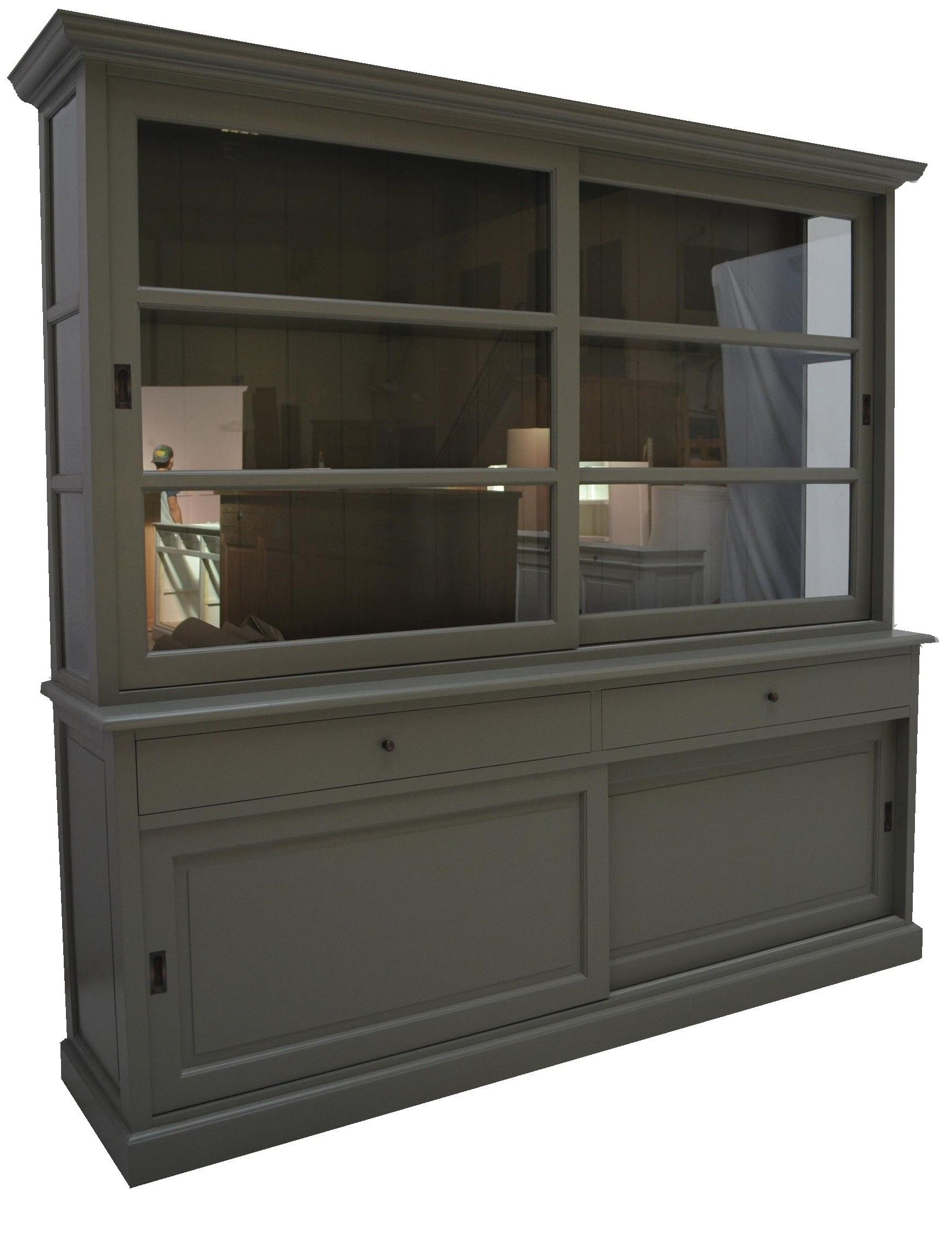 Buffetkast engels groen groen Lisse 220cm - huiskamer ...