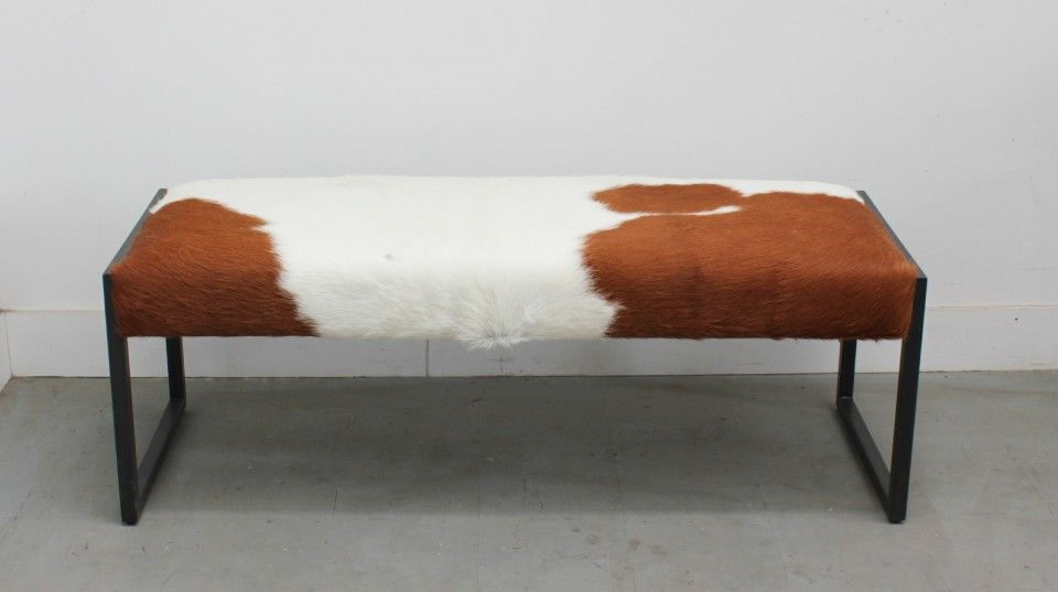 Shown In Vegetal Tanned Hide With Blackened Steel Base 48 L X 17