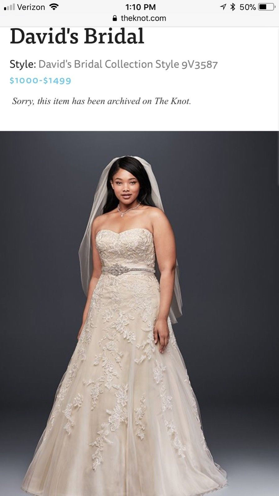 Gently Used Plus Size Wedding Dress For Sale Originally Purchased