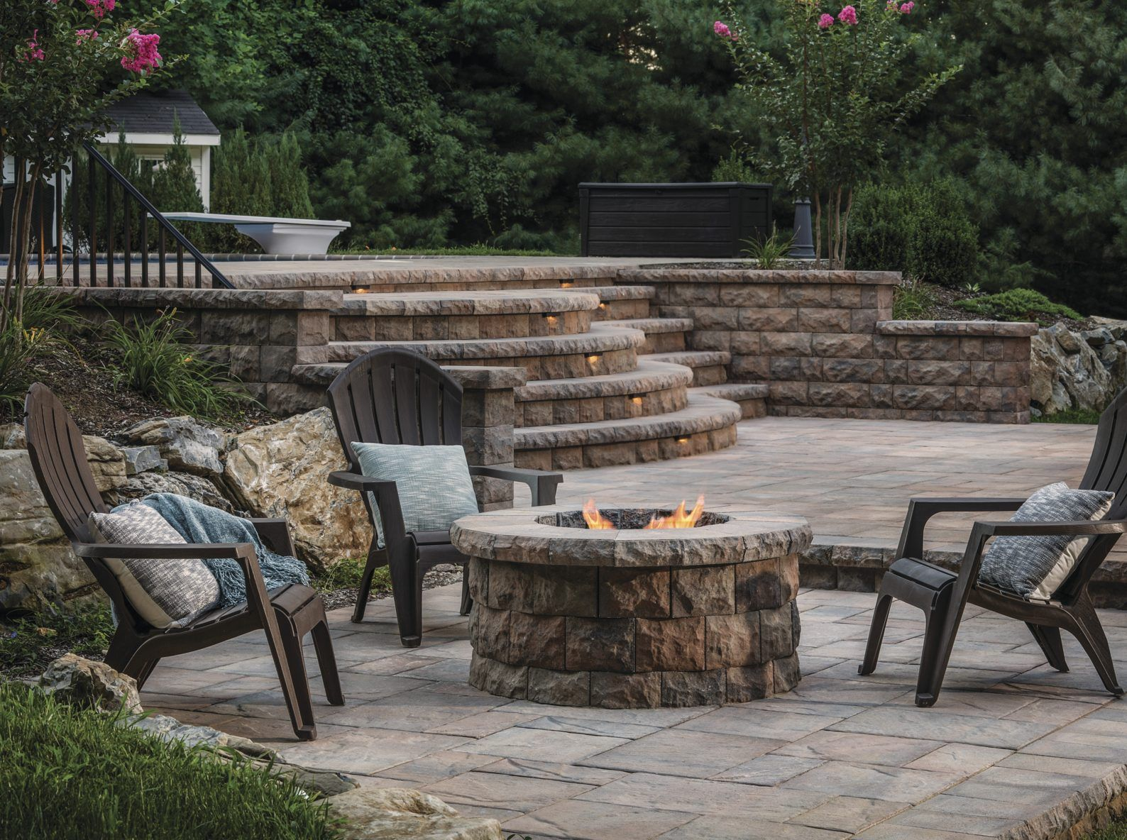 10 Dimensional Fire Pit Patio Ideas That Add Flare To