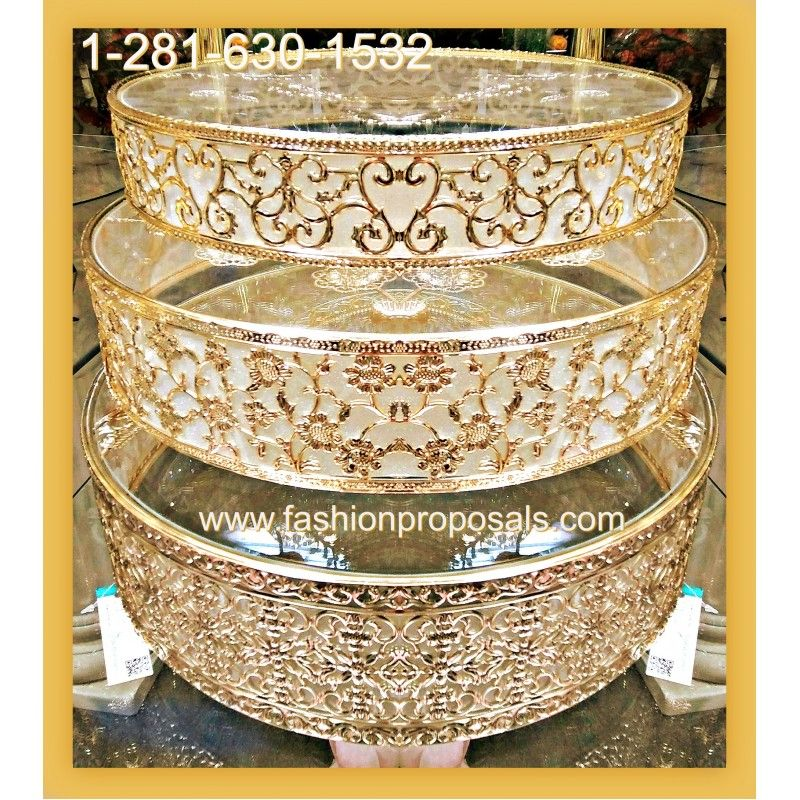 Filigree crystal and metal Cake stand, or dessert tray, a unique ...