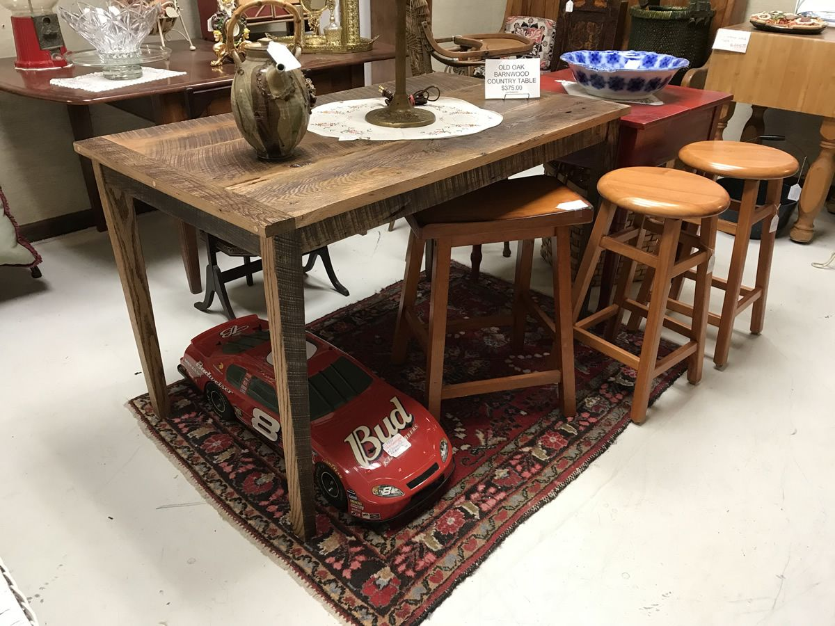 Hand made barn door table stools and more needful things antique