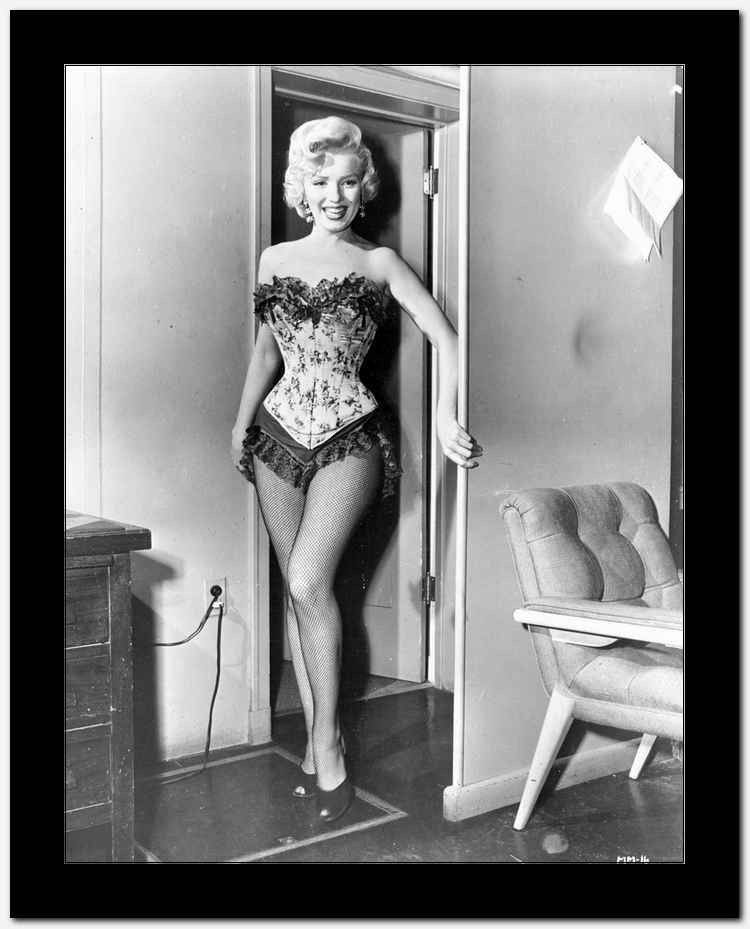 0706b016cec Marilyn Monroe in Corset with Fringe Premium Art Print | Idols ...