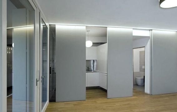 Scheidingswand Voor Slaapkamer : Design glazen schuifdeur als scheidingswand tussen slaapkamer en