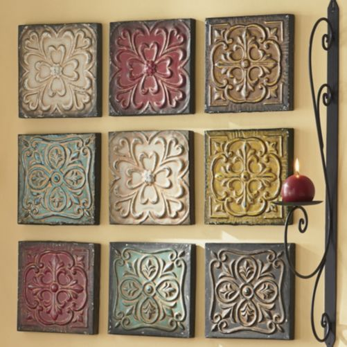 9-Piece Embossed Wall Art Set from Through the Country Door® | Home ...