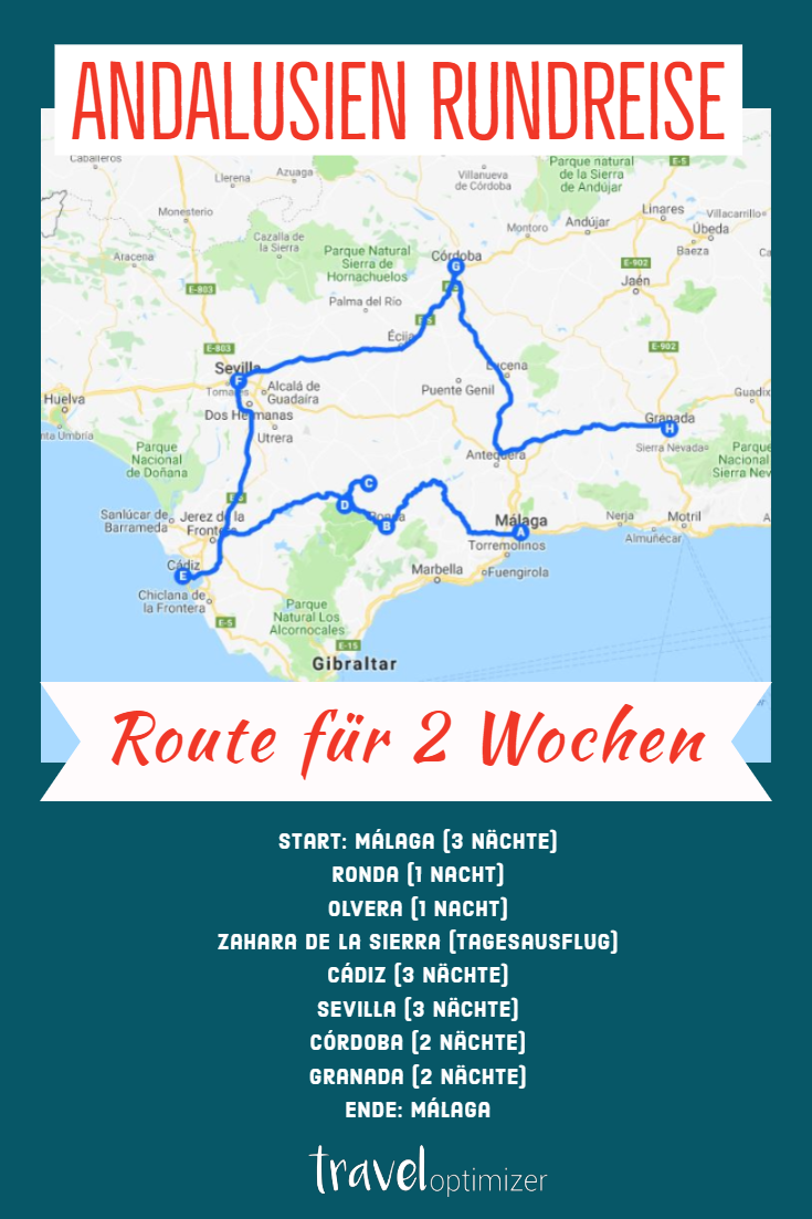Andalusien Roadtrip 1 2 Wochen Route Stadte Strande Tipps Andalusien Rundreise Andalusien Strand Tipps