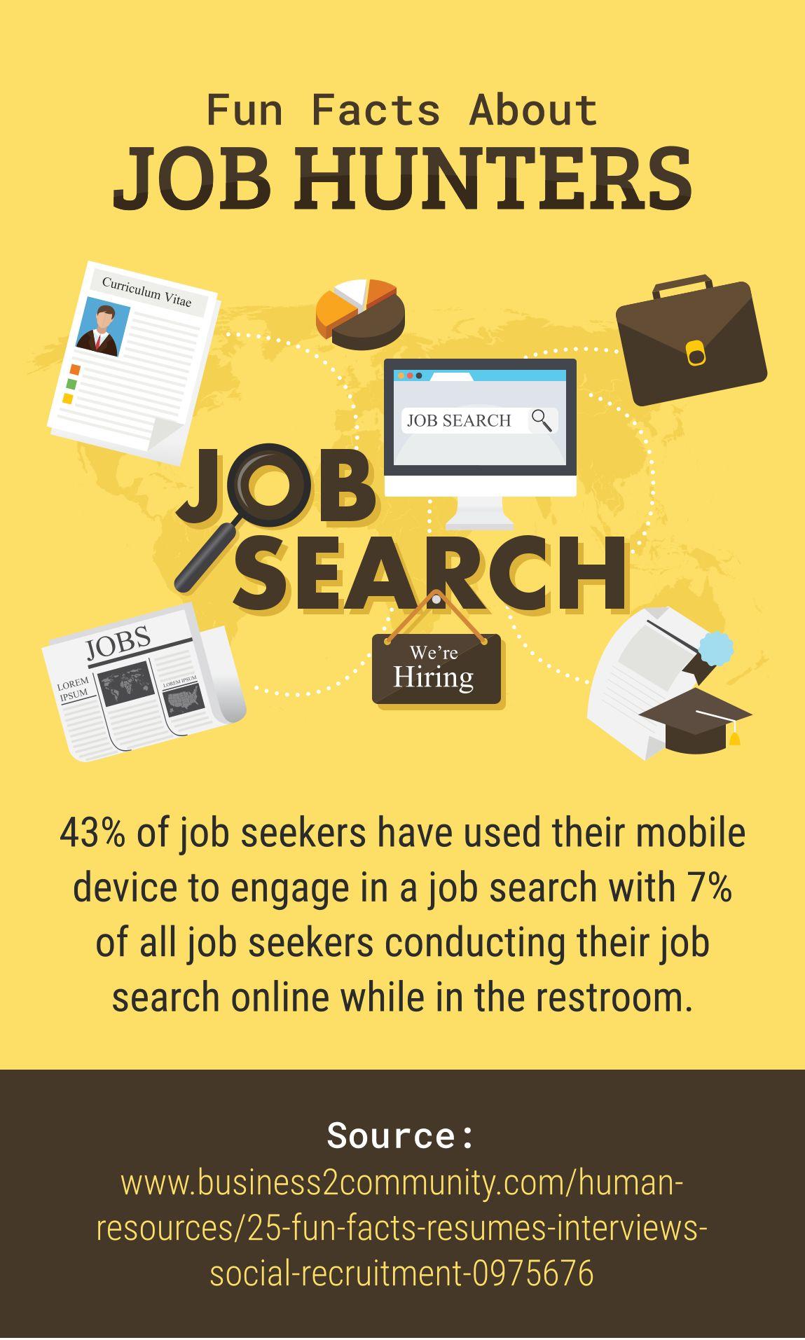 Fun facts about job hunters funfacts jobhunters fun