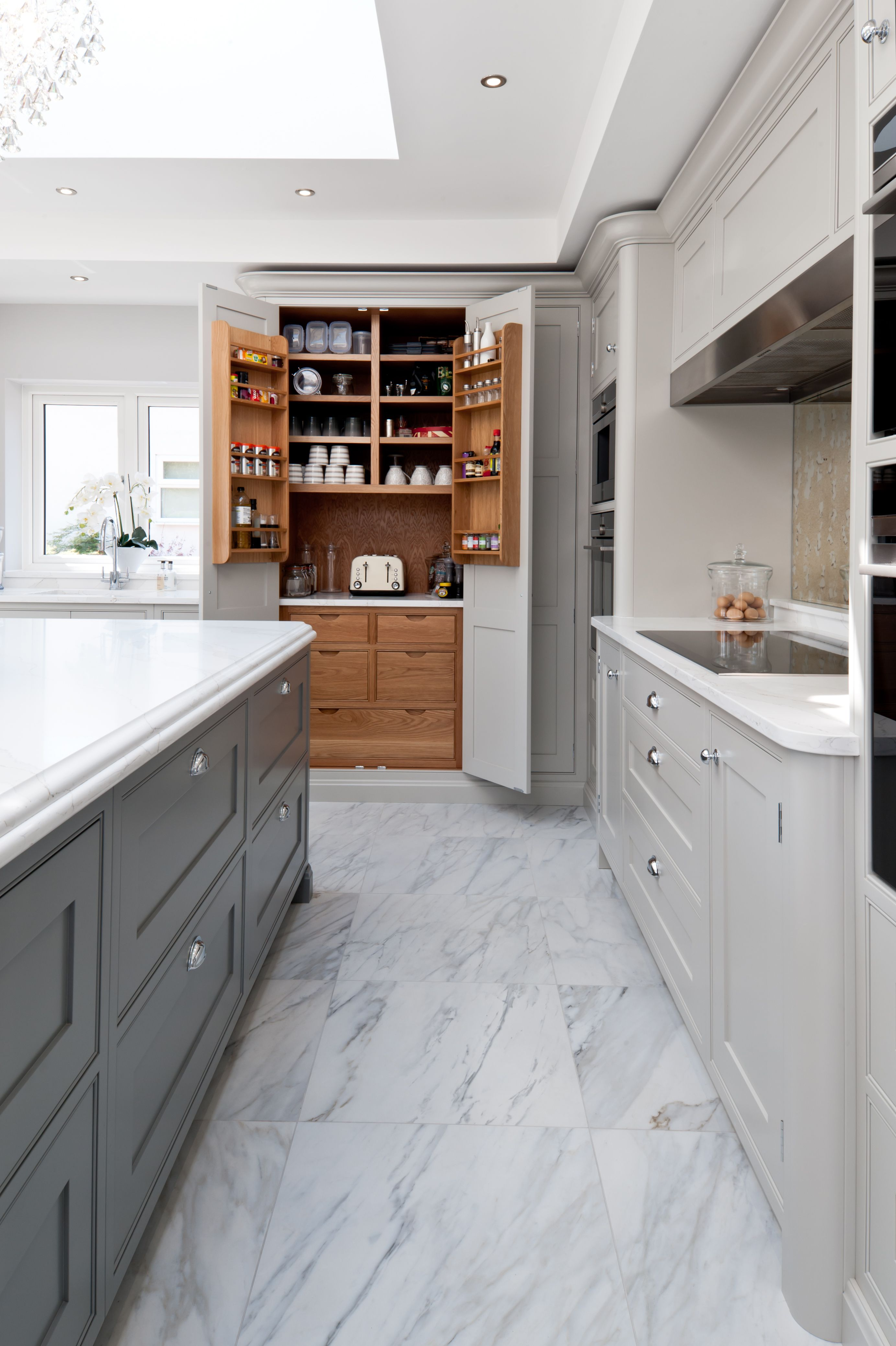 Truly Bespoke And Wonderfully Elegant Our Malaz House Kitchen Is Quite The Statement Living Space And Ju Bespoke Kitchen Design Kitchen Handmade Kitchens