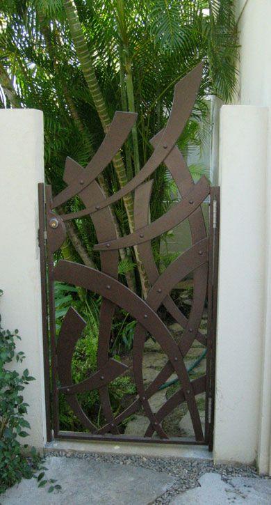 steel gate forja Pinterest Rejas, Hierro y Puertas de jardín