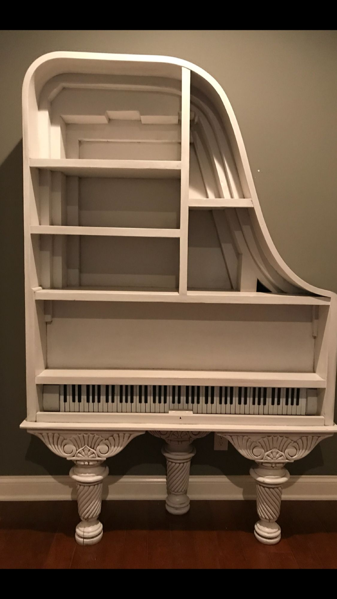I repurposed my grand piano that would no longer stay