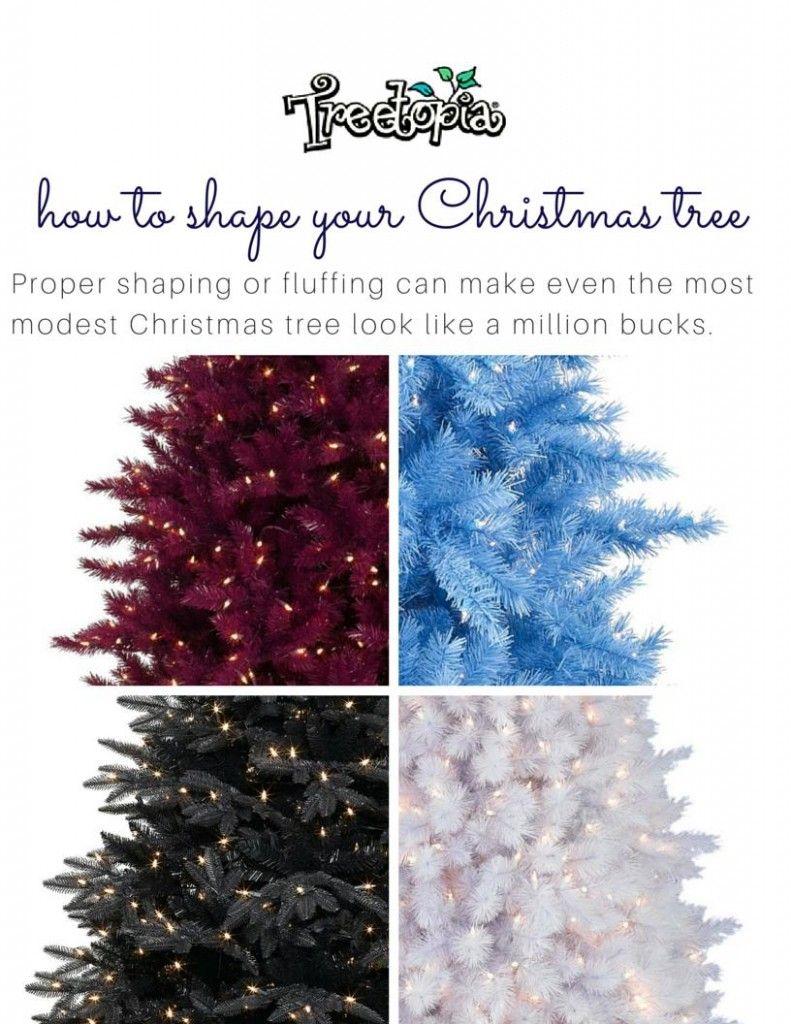 How to Shape Your Christmas Tree | Trees, Christmas trees and Shape