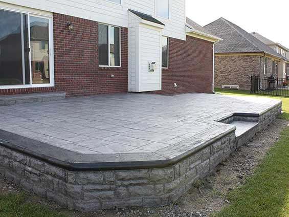 Lovely Stamped Concrete Patio Costs