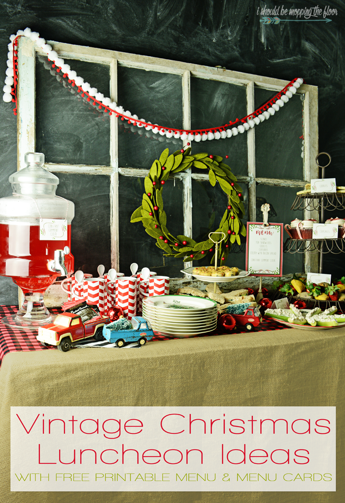 Christmas Party Ideas For Family And Friends Part - 39: Put An Eclectic Spin On Your Holiday Entertaining With These Vintage  Christmas Luncheon Ideas. They