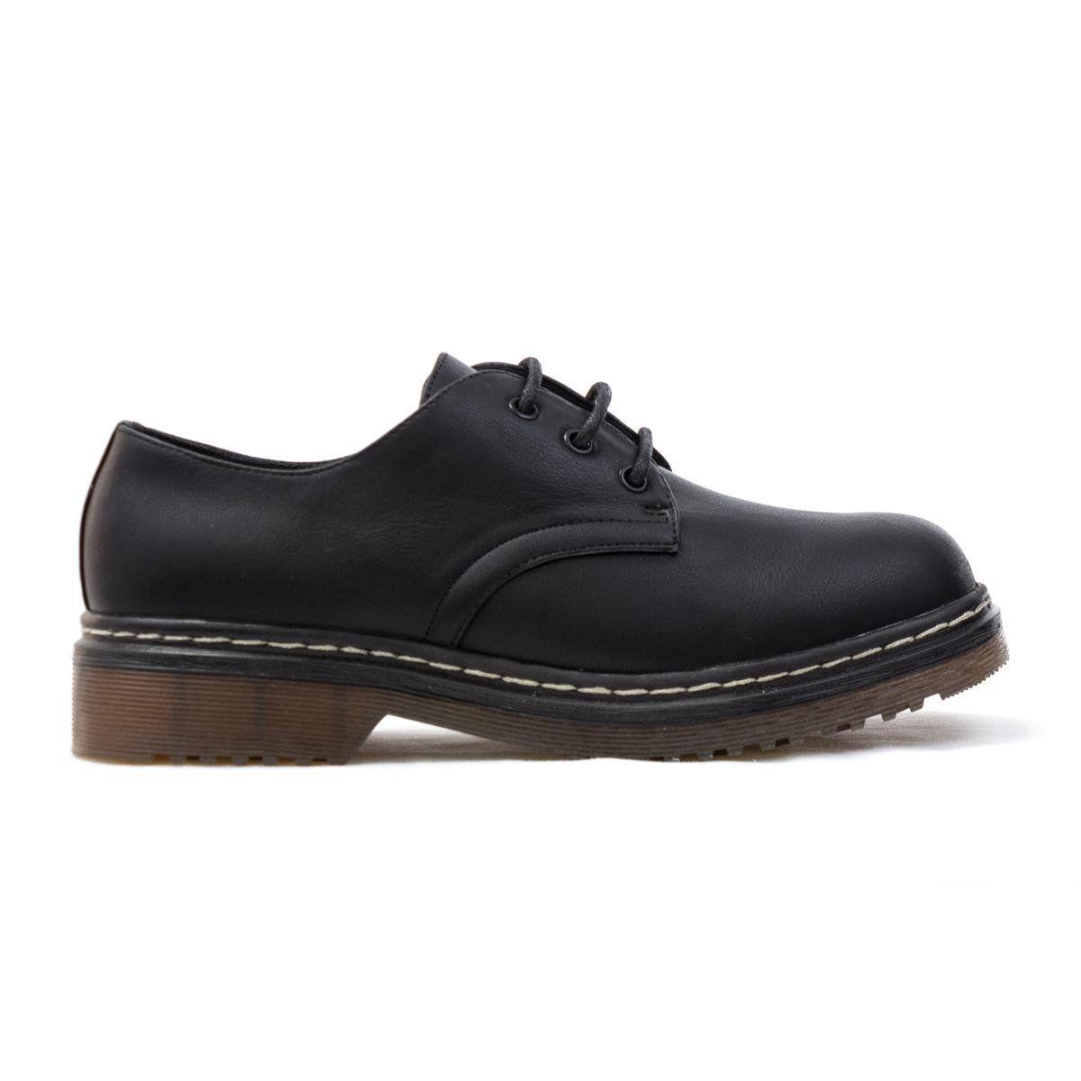 faac6a19b0e83 Lilley Womens Black Matte Lace-Up Shoe - Size 5 - Black  Amazon.co ...