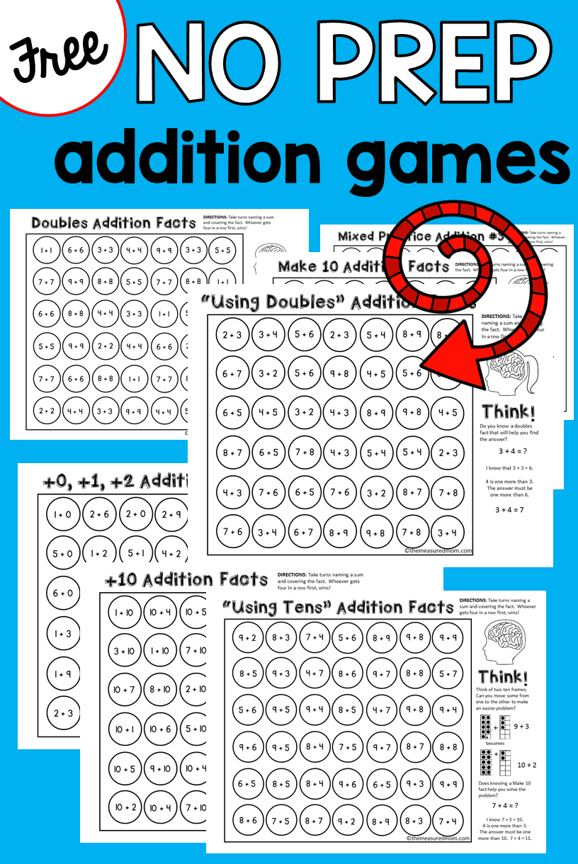 9 free addition games | Pinterest | Addition strategies, Addition ...