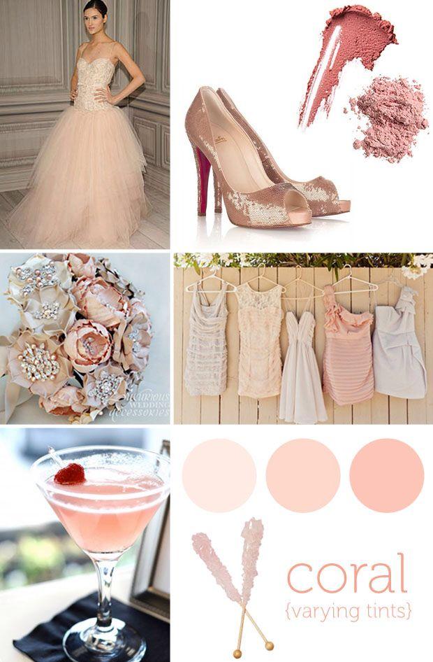Coral Blush Wedding Pinterest Wedding Wedding Inspiration And