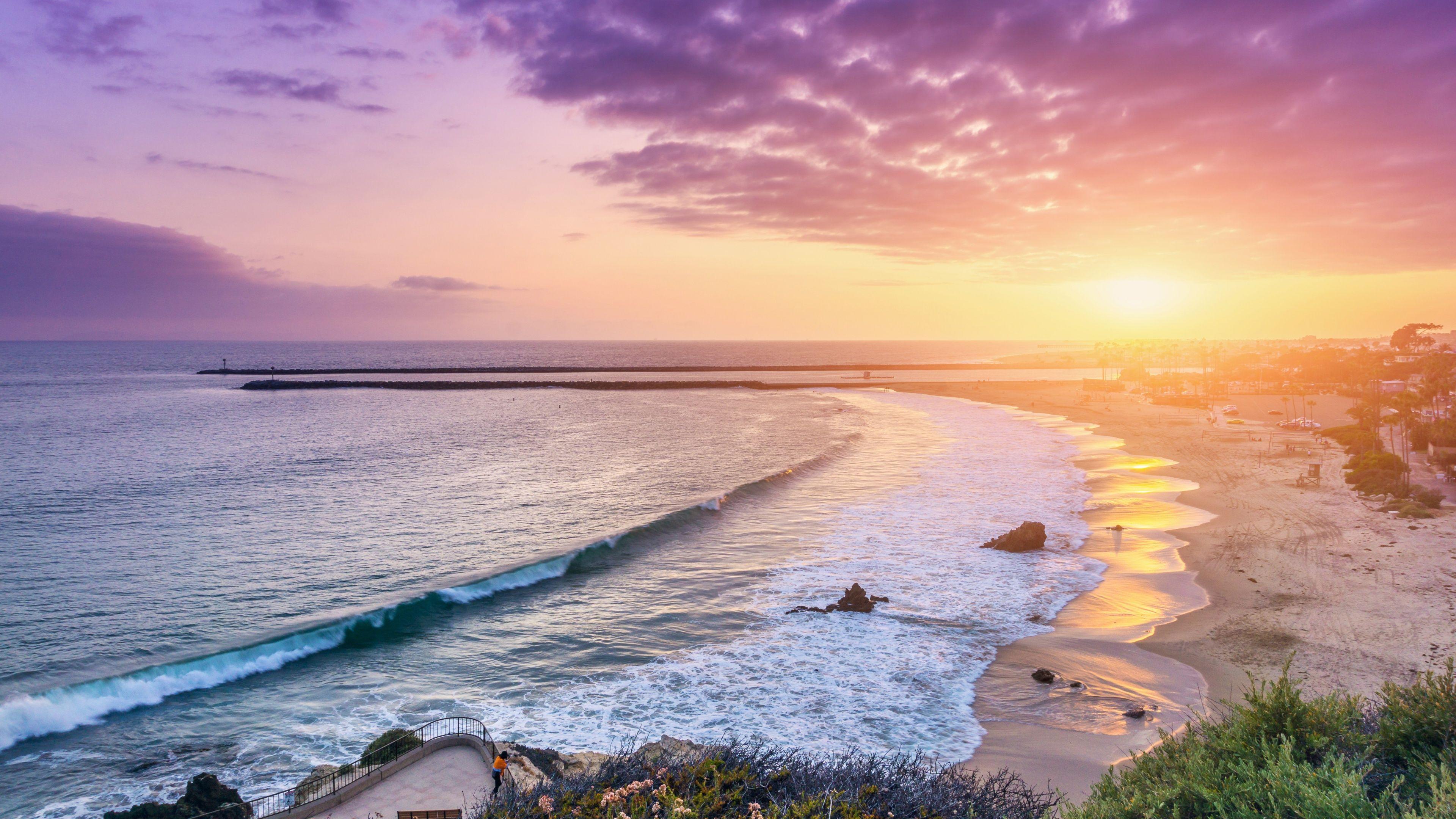 Corona Del Mar Newport Beach Wallpapers Hd Wallpapers Beach Sunset Wallpaper Beach Wallpaper Beach Background