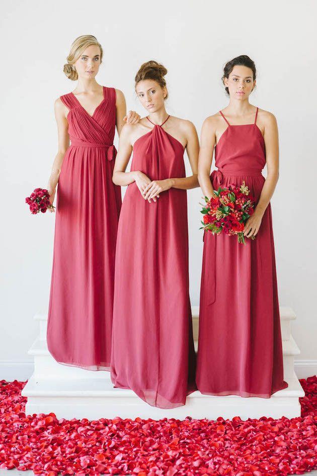 robe de soir e rouge longue pour mariage robe pour demoiselle d 39 honneur robe robe de. Black Bedroom Furniture Sets. Home Design Ideas