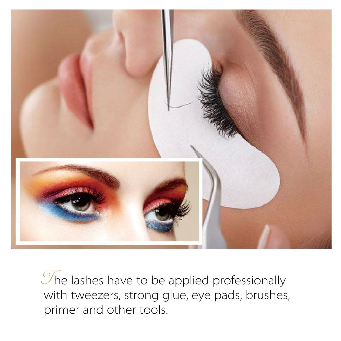 7fe20abb93a Amazon.com: Beyelian Beauty Mink Eyelash Extensions Charming D Curl 0.20mm  Mixed Tray (7-15mm Assorted) Individual Semi Permanent Professional Use  False ...
