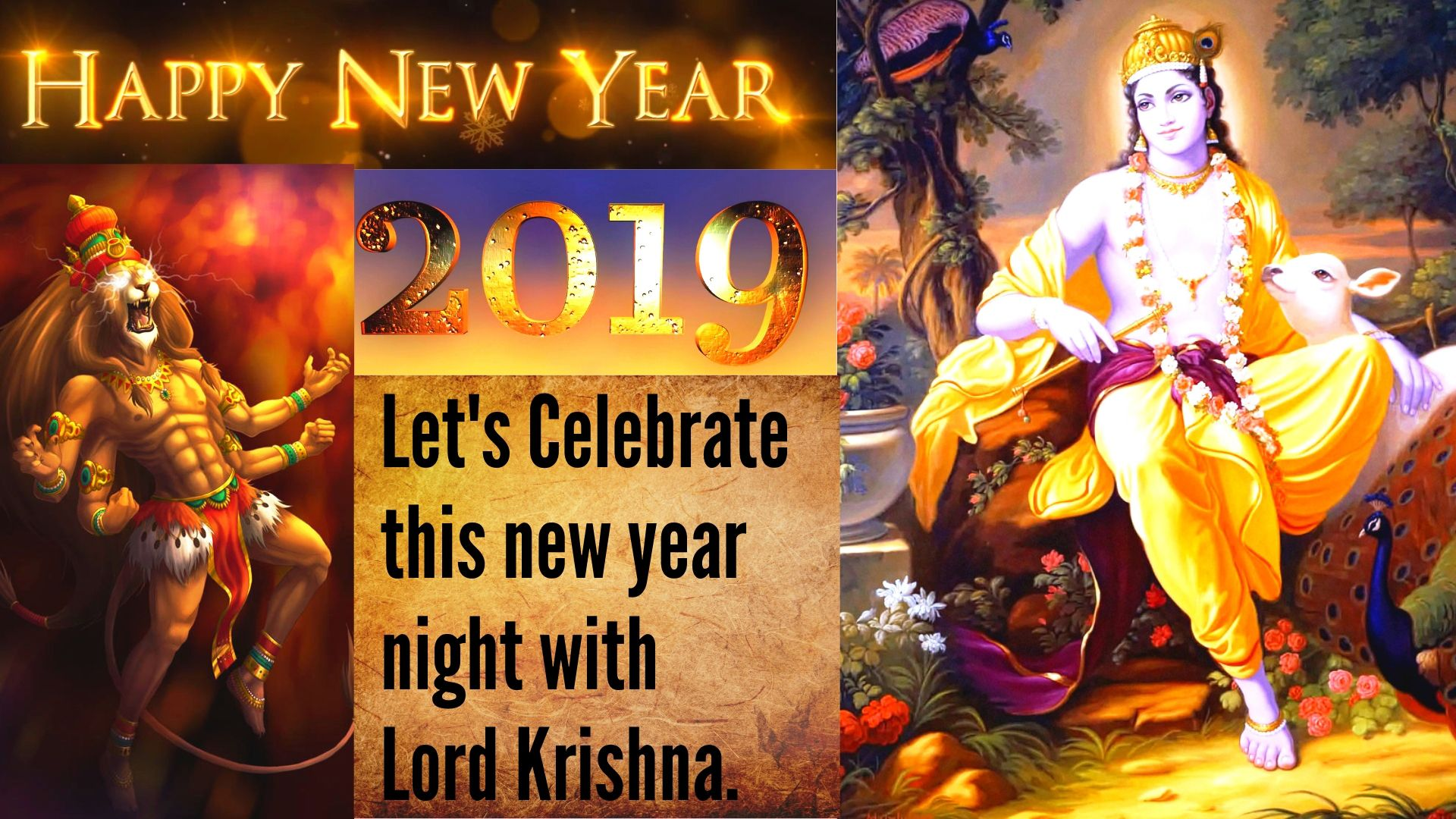 Happy New Year Krishna Image 94
