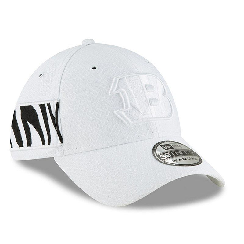 Cincinnati Bengals New Era 2018 NFL Sideline Color Rush Official 39THIRTY  Flex Hat – White 8cfafc80375