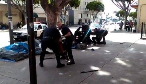 Breaking Man Shot By Lapd Stole Identity Of French Man Johnnbcla Homeless Man Stolen Identity Lapd