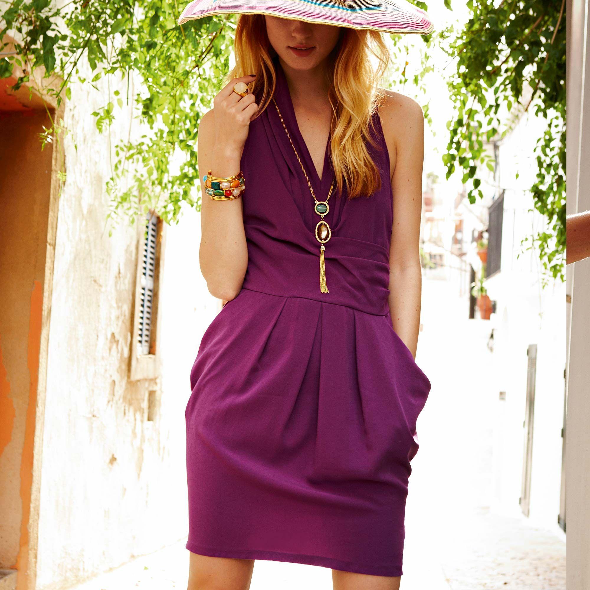 SIENNA Kleid Kleid in blauer Wickeloptik von SIENNA. Mit gelegten ...