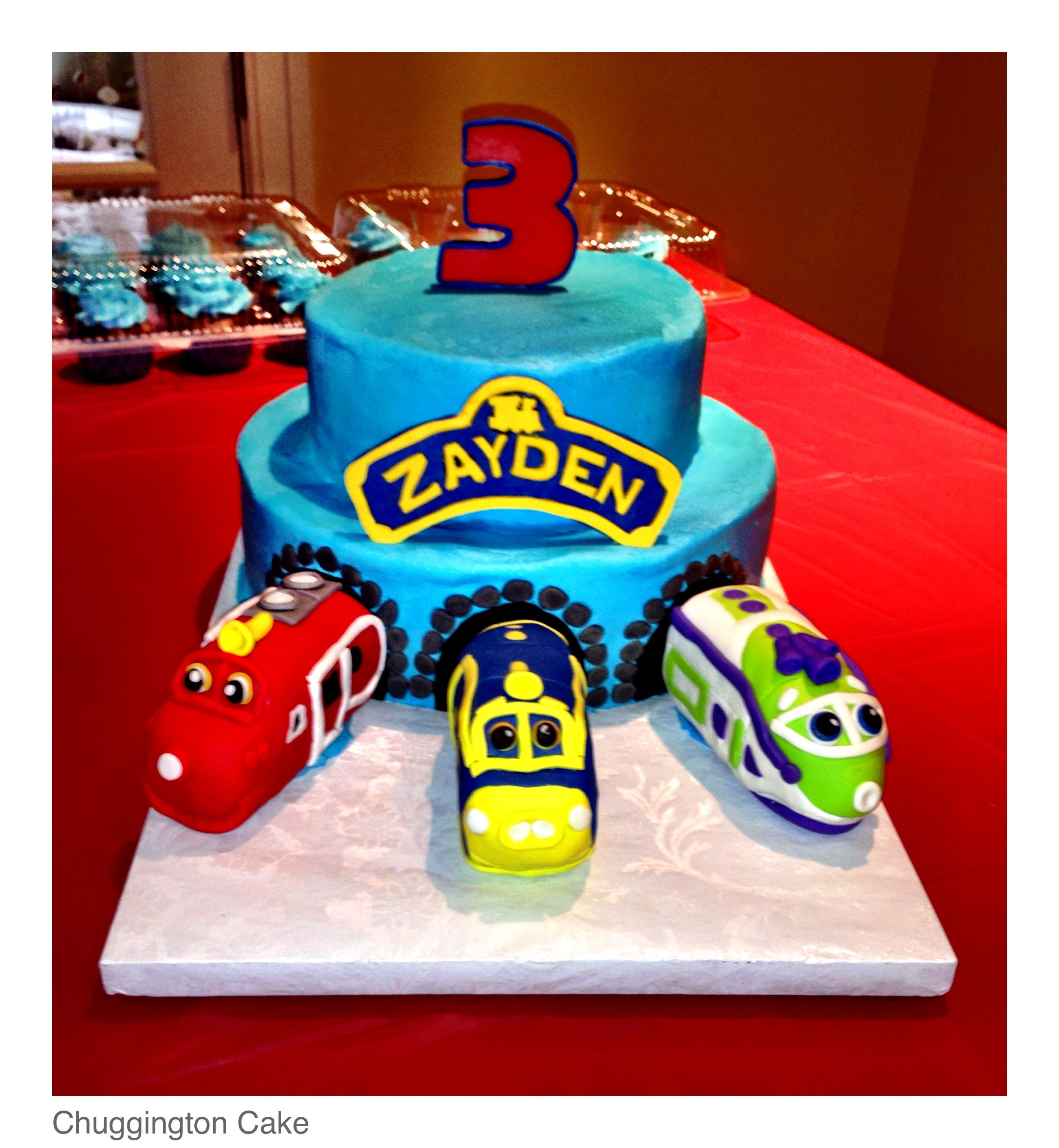 Chuggington Train Cake Chuggington Train cake Number 3 made of