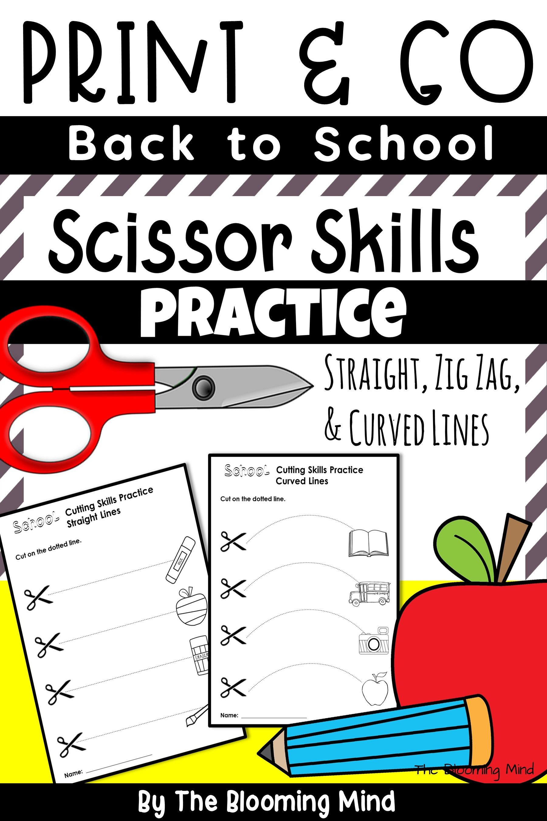 Back To School Scissor Skill Practice In