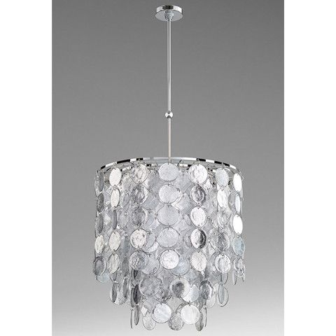 Pendant Chandelier CYAN DESIGN CARINA 9 Light Shatter Silver Chrome Clea  CY 2514 | Products | Pinterest
