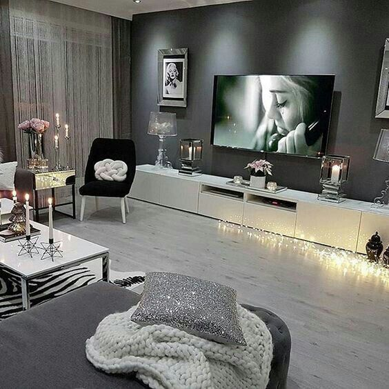 You like the long tv screen and you could have a wall wanting such a dark gray as well -  You like the long tv screen and you could have a wall wanting such a dark gray as well  - #antiquedecor #apartmentdecor #bedroomdecor #could #Dark #gray #homedecor #LONG #screen #wall #wanting