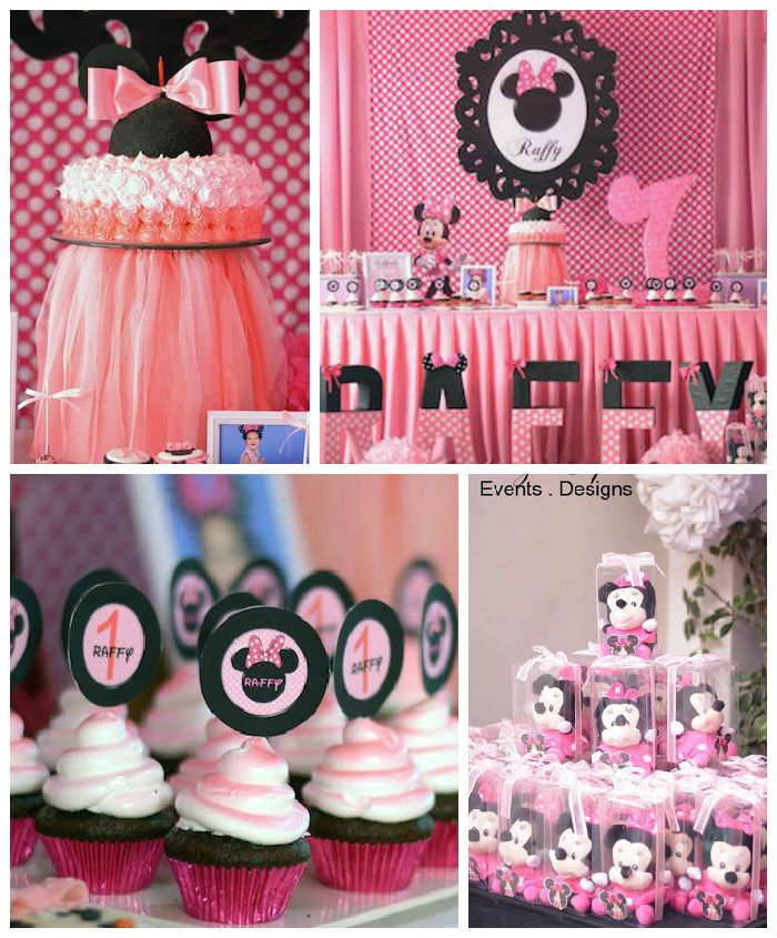 Minnie Mouse Birthday Party Minnie mouse Themed birthday parties