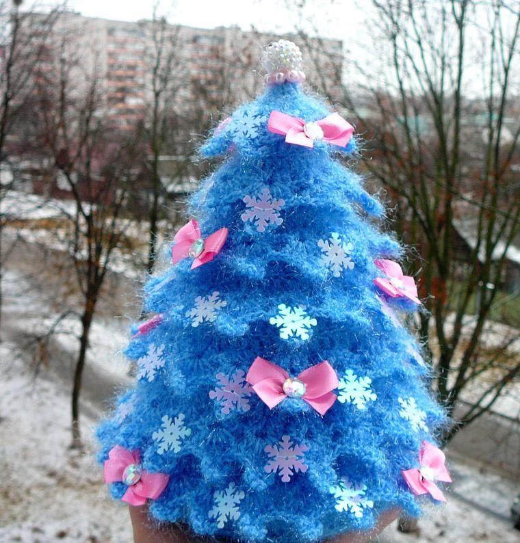 Вяжем искрящуюся новогоднюю ёлочку - Ярмарка Мастеров - ручная работа, handmade