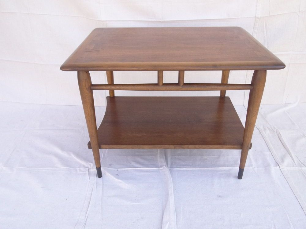 Lane Danish Modern Acclaim Dove Tale Lamp End Table Mid