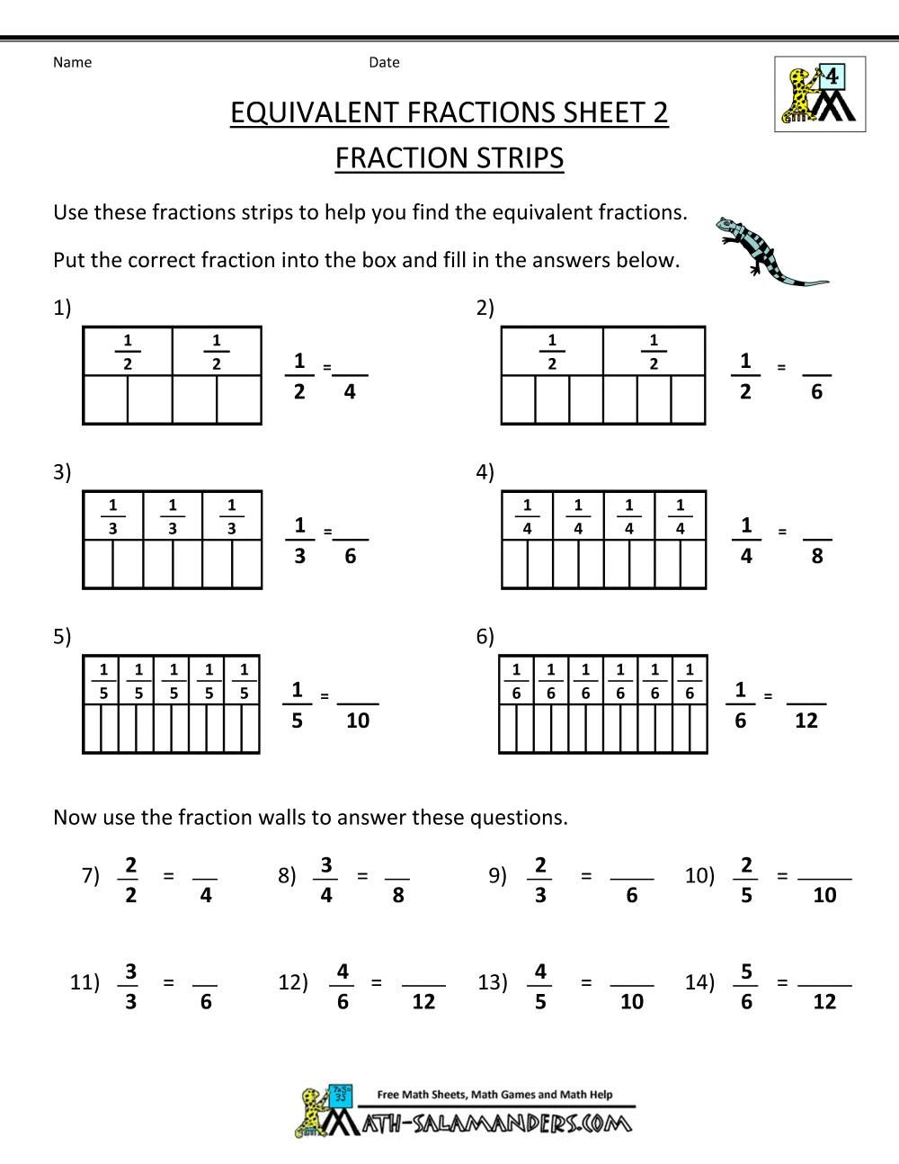 18 4th Grade Free Printable Math Worksheets In 2020 Math Fractions Worksheets Math Fractions Fractions Worksheets