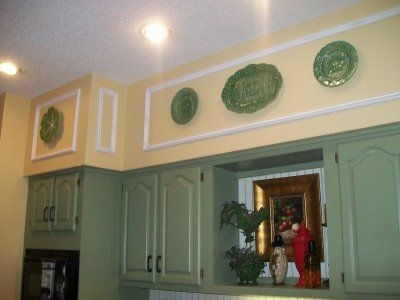 Good way to dress up those awful 70s kitchen soffits--moulding! & Before And After...Unsightly Kitchen Soffits | Kitchen | Kitchen ...