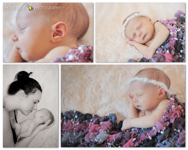 Brisbane Newborn | Children | Family | Maternity Photography | Baby Girl | Delicate Heandbands | Black & white