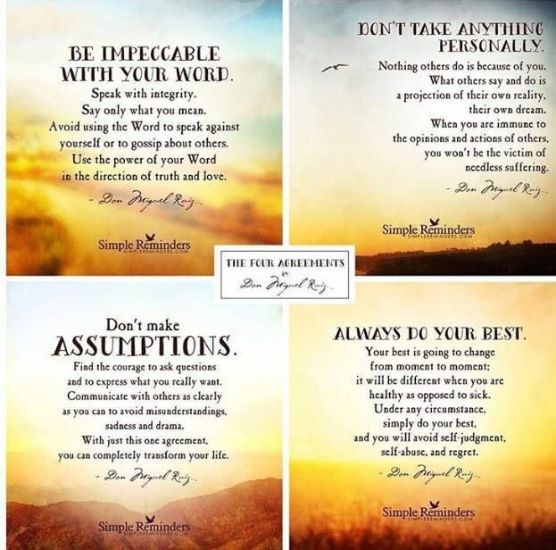The Four Agreements Quotes Cool The Four Agreements  Wise Words  Pinterest  Wise Words Recovery . 2017