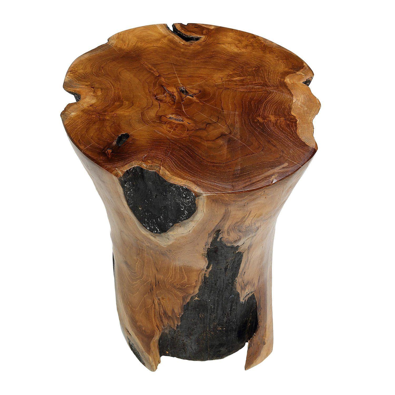 Bare Decor Hourglass Artisan Accent Solid Teak Wood Tree