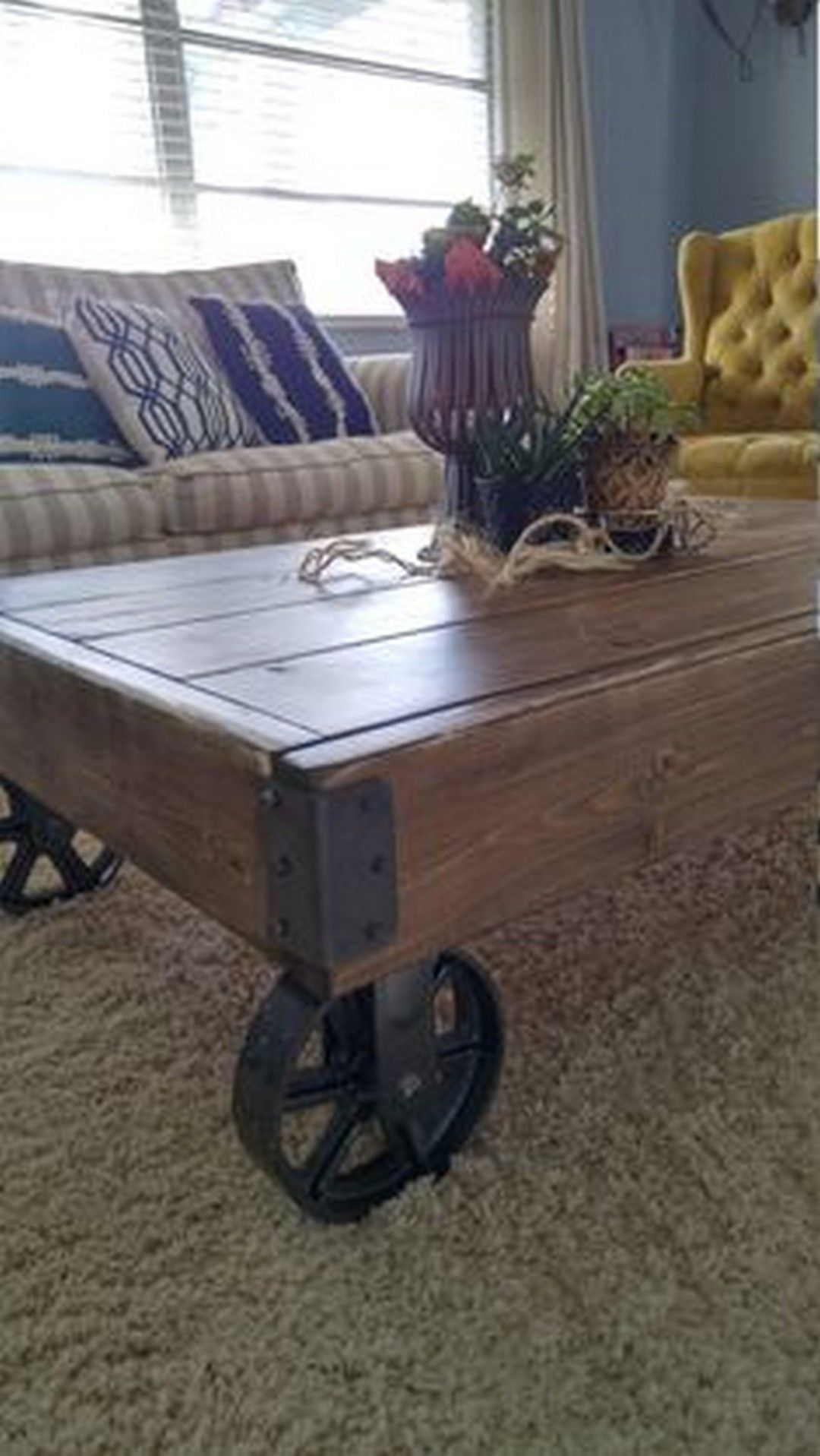 Industrial Farmhouse Coffee Table to Set in Your