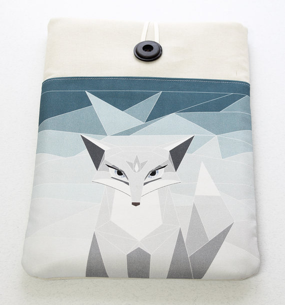 Arctic Fox Macbook Laptop Sleeve Laptop Cover for by StudioPapilio