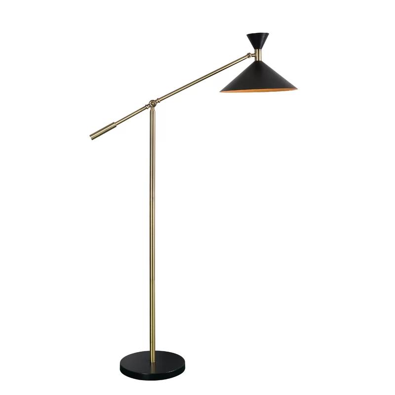 Samira 53 Task Floor Lamp Black Floor Lamp Floor Lamp Task Floor Lamp