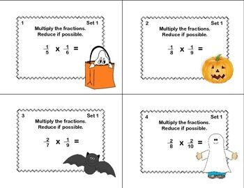 Math Task Cards Grade 5 Multiplication/Division of Fractions ...