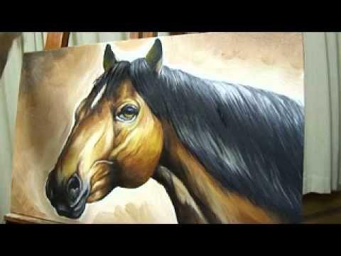 Pintura de quadro à óleo de cavalo - Autor Hugo Rocha - PARTE 5 de 5