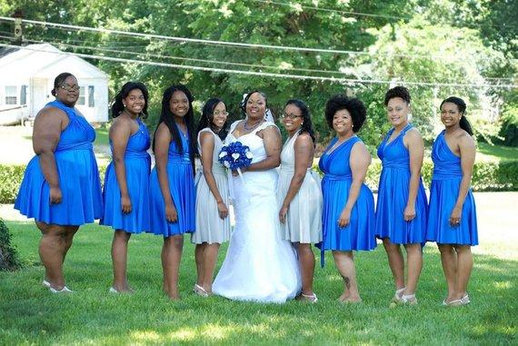 Royal Blue Bridesmaids Convertible Wrap Dress Xs 5xl Beach