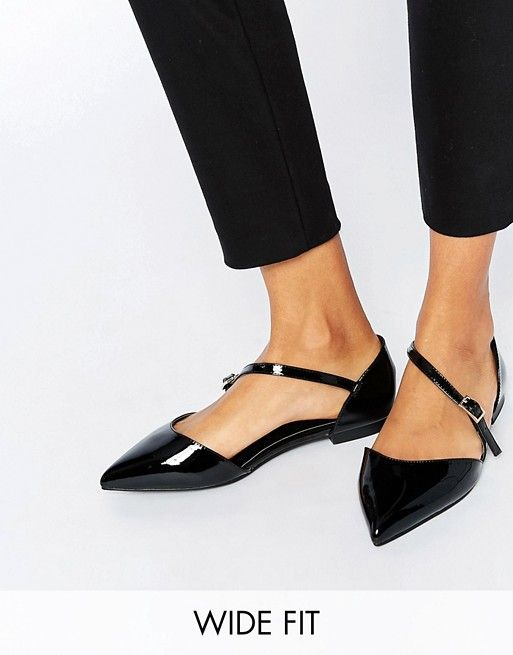 Photo of ASOS LEAD THE WAY Wide Fit Pointed Ballet Flats   ASOS