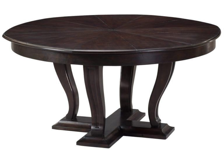 Transitional Jupe Dining Table Made From Solid Oak With Ebony Finish With Leaves Expandable With Images Dining